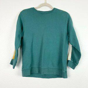 Zara 14 Turquoise Crew Neck Long Sleeve Sweatshirt